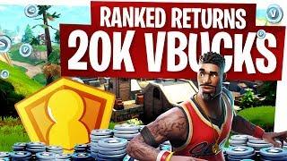 Ranked Mode is Back! 20,000 VBucks for the Winner and New Rules! - Fortnite Solo Showdown Blitz