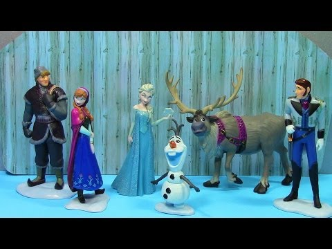 Disney Frozen Anna Elsa Olaf Sven Kristoff Hans Disney Store Figurine Playset