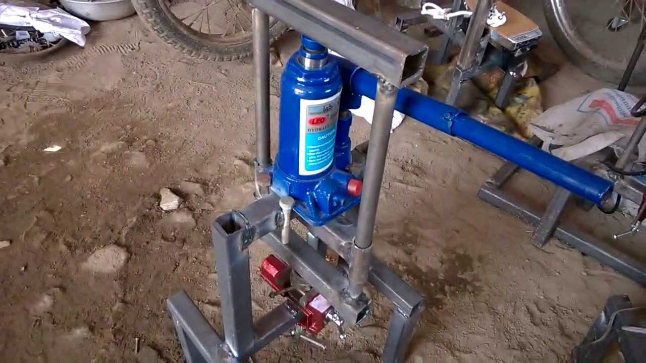 Hydraulic Bearing Puller Mini Project : Hydraulic cylinder liner puller mechanical engineering