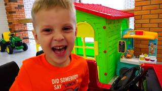 Max Little Driver and COOKIE MAN ride on Toy Cars and Transform car for kids