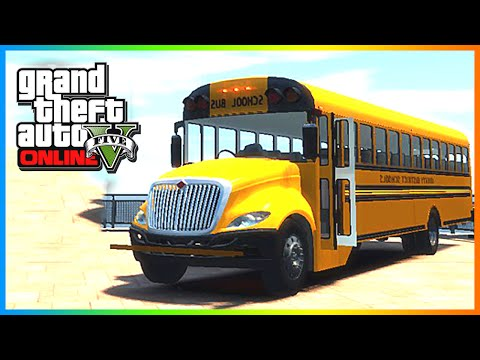 GTA 5: MODDED CARS - Custom School Bus & Police Cars! GTA 5 Modded Cars (GTA V Online)