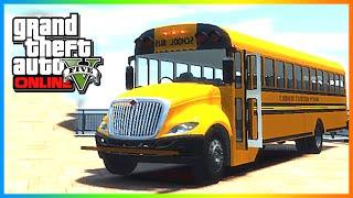 GTA 5: MODDED CARS - Custom School Bus & Police Cars! GTA 5 Modded Cars (GTA V Online)