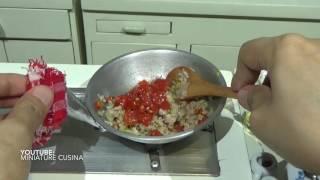 Mini Food: Spaghetti Bolognese (ASMR) ( Miniature Cooking Sounds) (DIY) (KIDS TOYS)