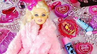 BARBIE COSMETIC CALENDAR Advent Lip Gloss Nail Polish Shape Perfume Bottle Dress Handbag Beauty