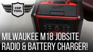 Milwaukee Bluetooth M18 Jobsite Radio & Battery Charger 2792-20