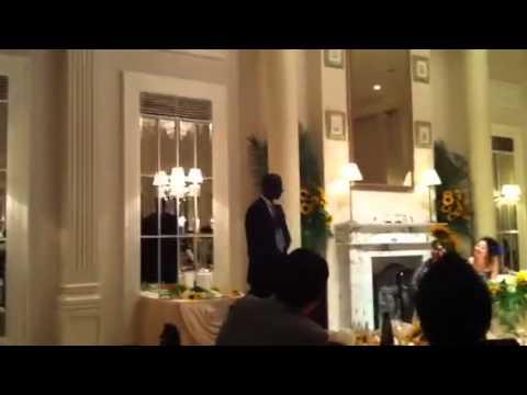 結婚式の爆笑スピーチ