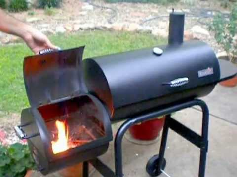 junior charbroil offset smoker youtube. Black Bedroom Furniture Sets. Home Design Ideas