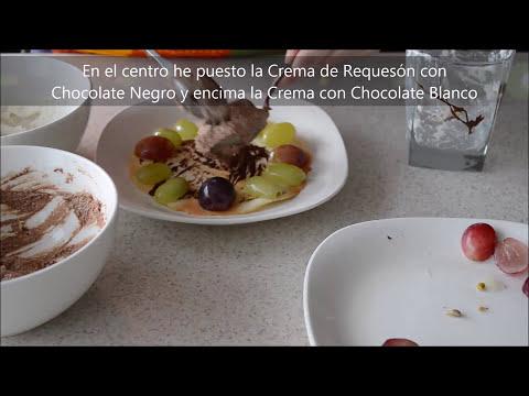 Requesón con Uvas y Chocolate - Postre Rápido y Fácil