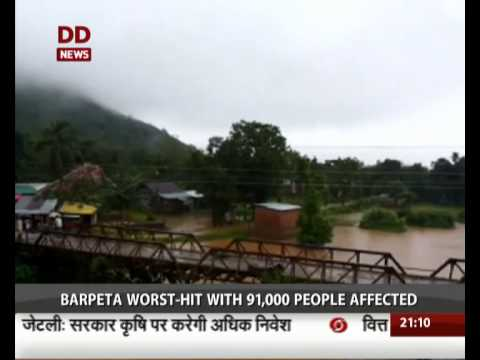 Monsoon hits several parts of Western India; Flood situation deteriorates in Assam