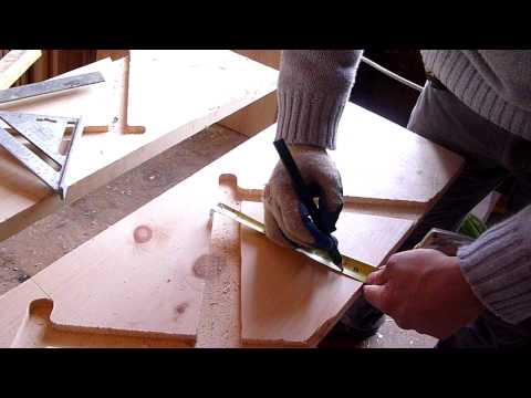 Como hacer escaleras de madera # 3 (CORTE)