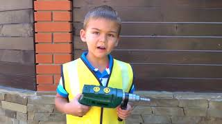 Dima Kids TV! Funny Dima Unboxing And Assembling Red Quad Bike Ride On POWER WHEEL
