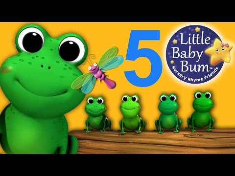 Five Little Speckled Frogs - NEW VIDEO | Nursery Rhymes | HD Version