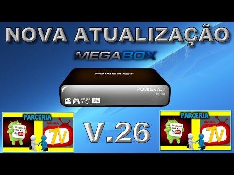NOVA ATUALIZAÇÃO (ATT) MEGABOX Powernet P990HD V.26
