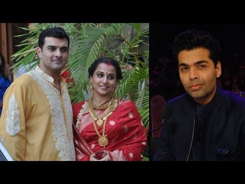 Karan Johar Busy Planning Vidya Balan's Post Wedding Bash video