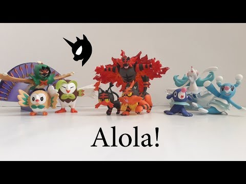 Pokémon Tomy Alola Starters all elvolution and Nebby Cosmog