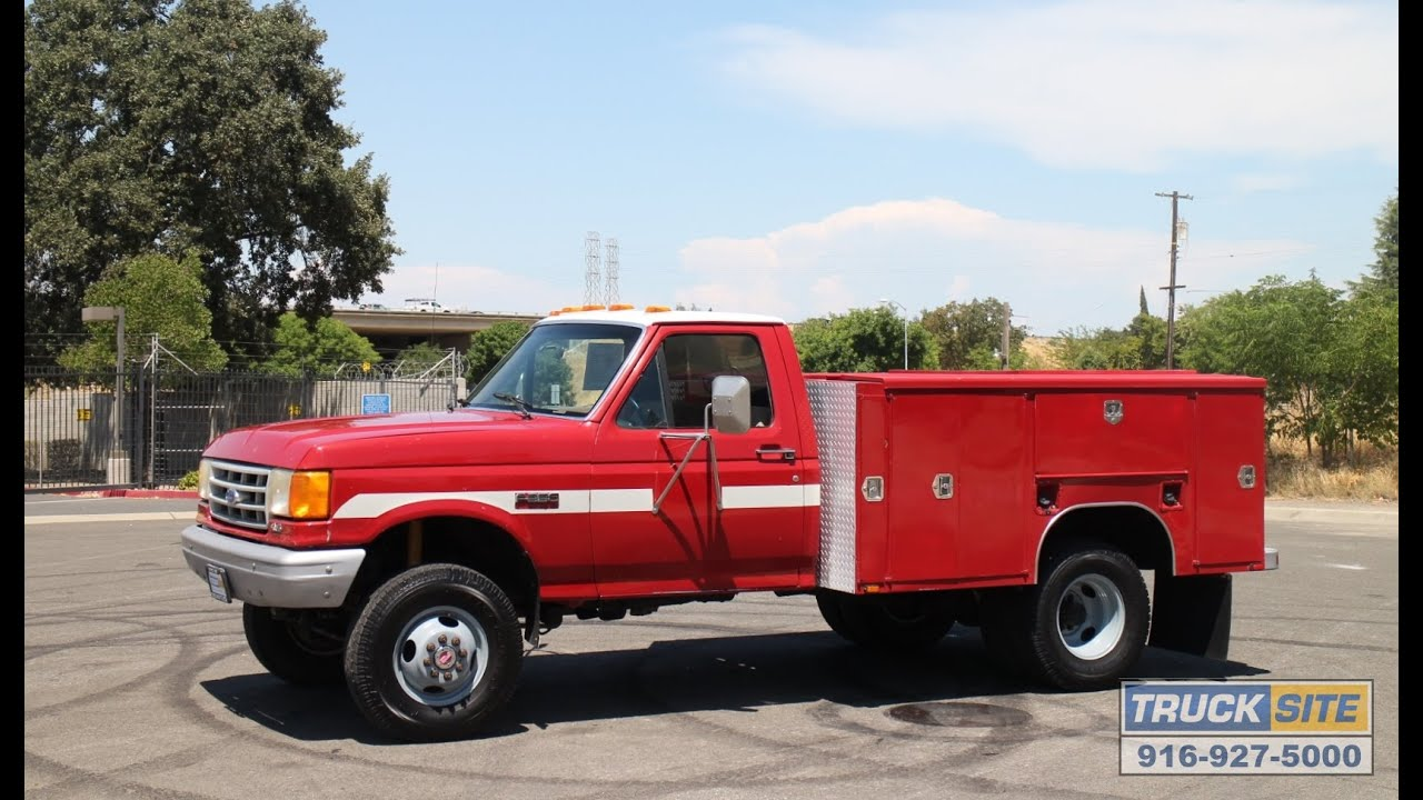 Ford Utility Bed 1990 Ford F350 4x4 9' Utility