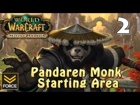 Mists of Pandaria: Pandaren Monk Starting Area Gameplay #2 (World of Warcraft)