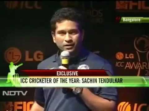 LG ICC Awards 2010 - Sachin Tendulkar Cricketer of the year