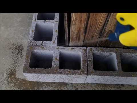 How to Build a Block Wall with Gorilla Glue... No Mortar Used