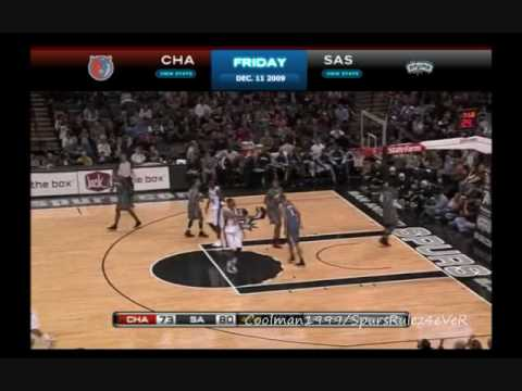 [NBA] San Antonio Spurs Vs. Charlotte Bobcats December 12, 2009 Full 4th Quarter Video