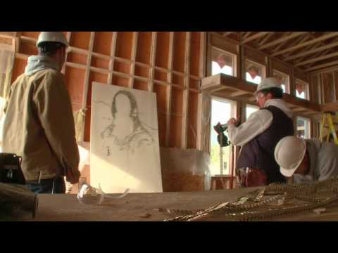 Guy makes art with semiauto nail gun