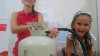 Helyum gazı ile oyun, uçan balonlar, Helyum gazı ile sesimiz nasıl değişiyor , çocuk videosu
