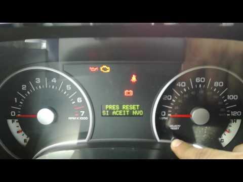 Reset servicio Ford Explorer 2007