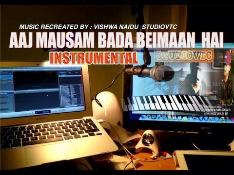 AAJ MAUSAM BADA BEIMAAN HAI   INSTRUMENTAL MUSIC STUDIOVTC AUSTRALIA...