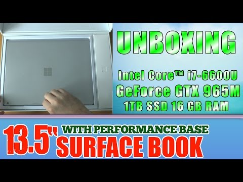 UNBOXING Surface Book with Performance Base - 1TB SSD / Intel Core i7 / 16GB RAM / GTX 965M 2GB