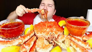 Giant 10 Pound Whole King Crab • MUKBANG
