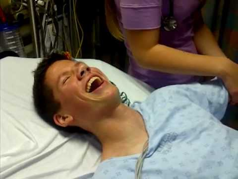 Funniest reaction to hospital drugs for a broken arm Music Videos