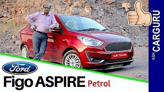 New Ford Aspire Petrol Full Review By CARGURU. Price, Engine, Space कुछ खट्टी कुछ मीठी।