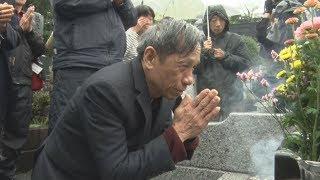 元ベトナム残留日本兵の子が墓参