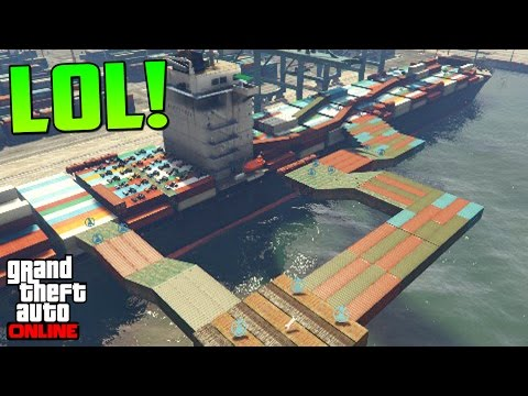 CONTAINERS COME PERSONAS!!! AHH! - Gameplay GTA 5 Online Funny Moments (Carrera GTA V PS4)