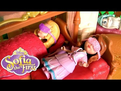Sofia The First Sisters Sleeptime Sleepover Slumber Party Set Disney Princess Amber Sofia Clover video