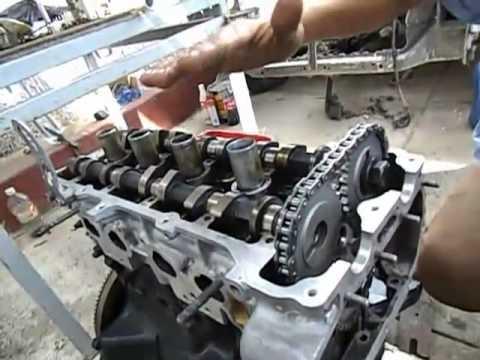 sincronizacion cadena de distribucion nissan urvan 2.4 motor KA24DE ...