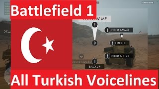 Battlefield 1 (Open Beta) | Turkish Voicelines |1080p, 60fps