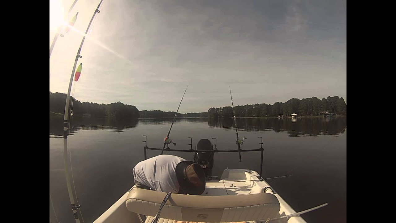 Lake gaston 09 28 2014 catfish youtube for Lake gaston fishing