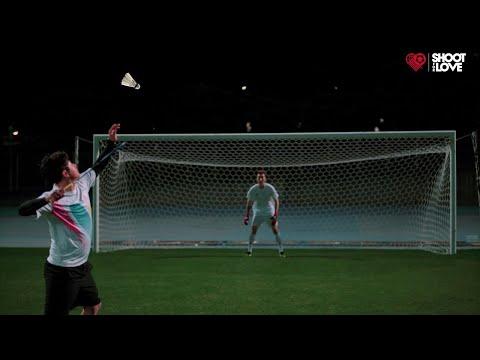조현우 vs 배드민턴 풀파워 스매싱. 월클골키퍼의 미친세이브 ㄷㄷㄷ l 슛포러브 Shoot for Love