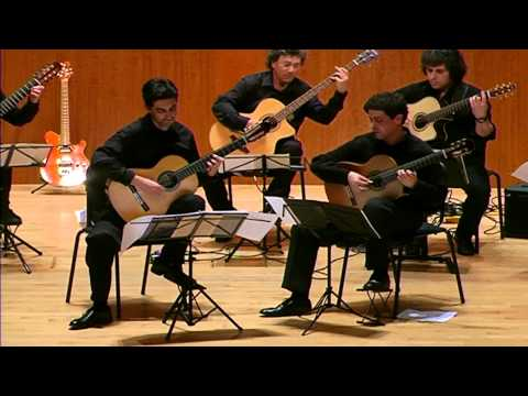The Pacific Guitar Ensemble plays Brandenburg Concerto No. 6 - III: Allegro, by JS Bach