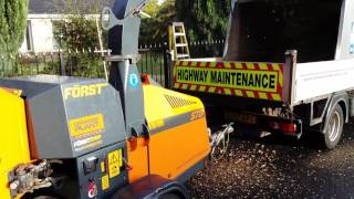 Först ST8 Wood Chipper demonstration with Marshalls Tree Services
