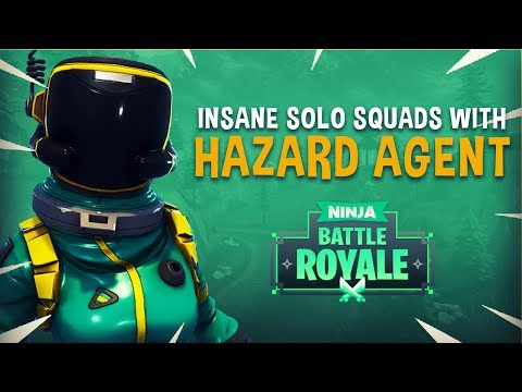 Insane Solo Squads With Hazard Agent Skin! - Fortnite Battle Royale Gameplay - Ninja