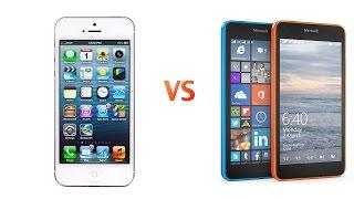 Обзор iPhone 5 vs Microsoft Lumia 640