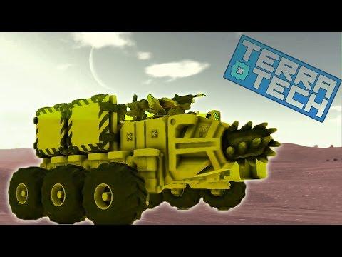 TerraTech #3 Игровой мультик про боевые машинки как конструктор лего Много машин танков самолетов