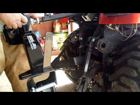 Attaching Land Pride Quick Hitch on BX25D