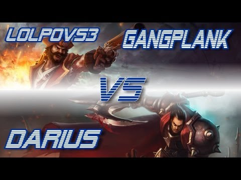 ► LoLPoV - Gangplank vs Darius [Top] (League of Legends Live Commentary)