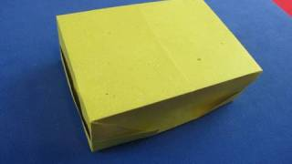 Origami Box, Scatola Con Un Foglio Di Carta A4  Instructions 折り紙   折纸