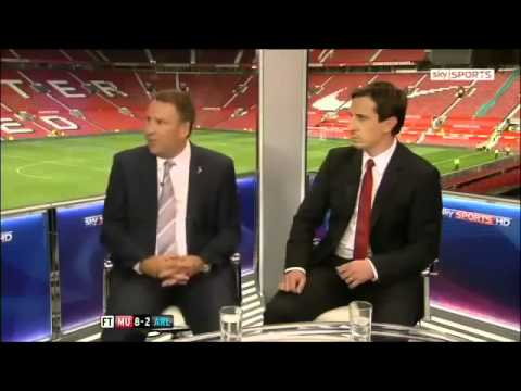 Manchester United vs. Arsenal 8 2 - Paul Merson & Gary Neville Reactions August 28 2011