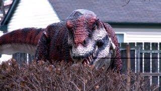Tiranosaurio Rex suelto en la ciudad