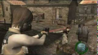 resident evil 4 mods - REBECCA COWGIRL in action